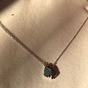 Jewelry - 925 stamped sterling silver mom& baby necklace